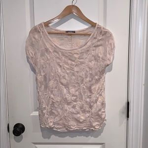 Women's Giulia cream short sleeve blouse Size M